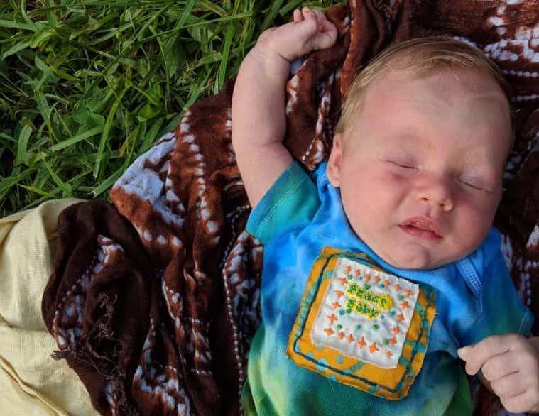 newborn baby first camping trip