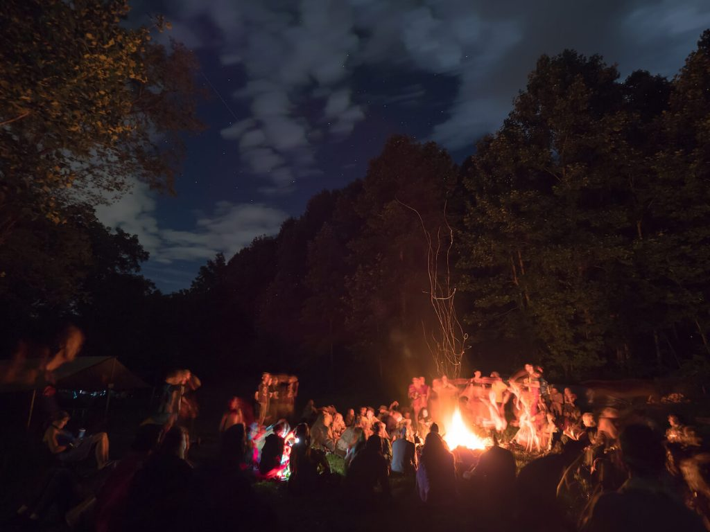 bonfire drum circle