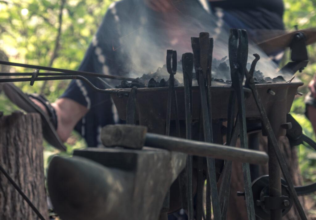 Blacksmithg at Firefly Gathering